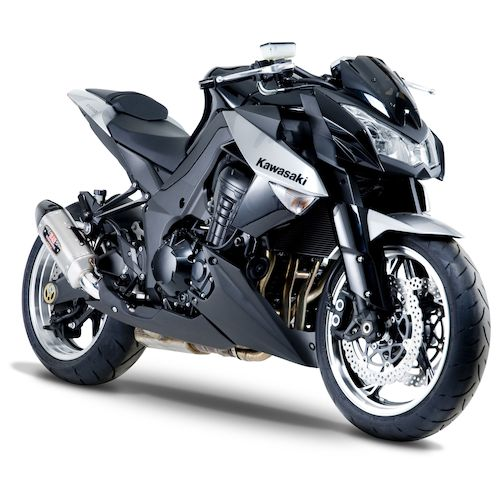 yoshimura r77 street slip on exhaust kawasaki z1000 2010. Black Bedroom Furniture Sets. Home Design Ideas