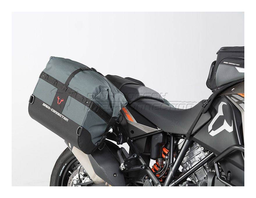 sw-motech dakar waterproof soft saddlebags and mounts ktm 1190