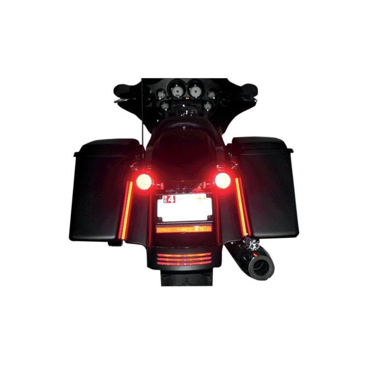 "Custom Dynamics Dual Color 14/"" Plasma Rods Harley Davidson touring saddlebags"