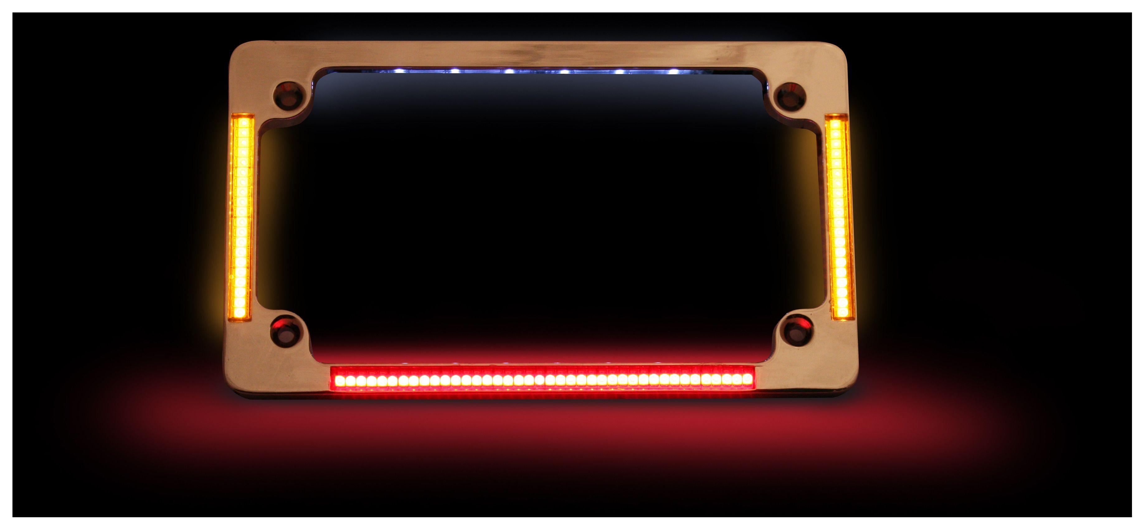 Custom Dynamics Led All In One Flat License Plate Frame Revzilla