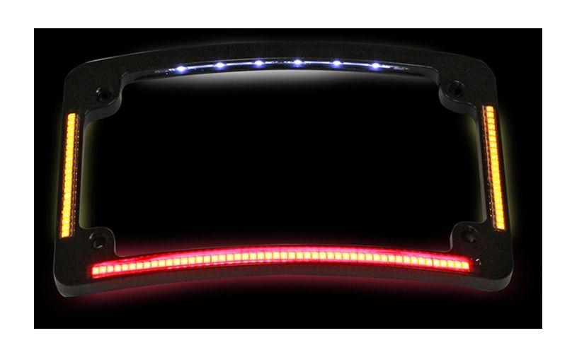 Custom Dynamics LED All-In-One Radius License Plate Frame - RevZilla