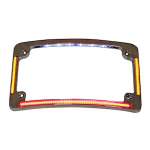 Custom Dynamics LED All-In-One Radius License Plate Frame