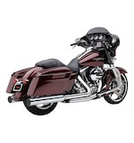 "Cobra 4"" Chrome Slip-On Mufflers With Race-Pro Tip For Harley Touring And Trike 1995-2015"