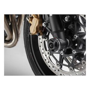 SW-MOTECH Front Axle Sliders Black Triumph Street Triple / R 2012-2015