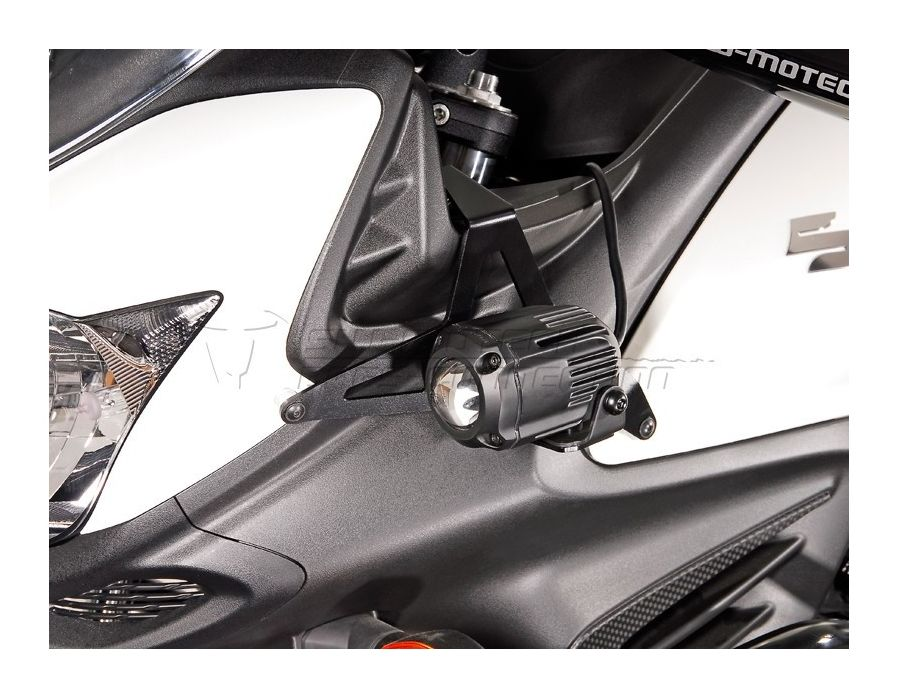 swmotech_auxiliary_lighting_mount_for_suzuki_v_strom_dl6501215 sw motech auxiliary light mount suzuki v strom xt 650 2012 2015  at arjmand.co