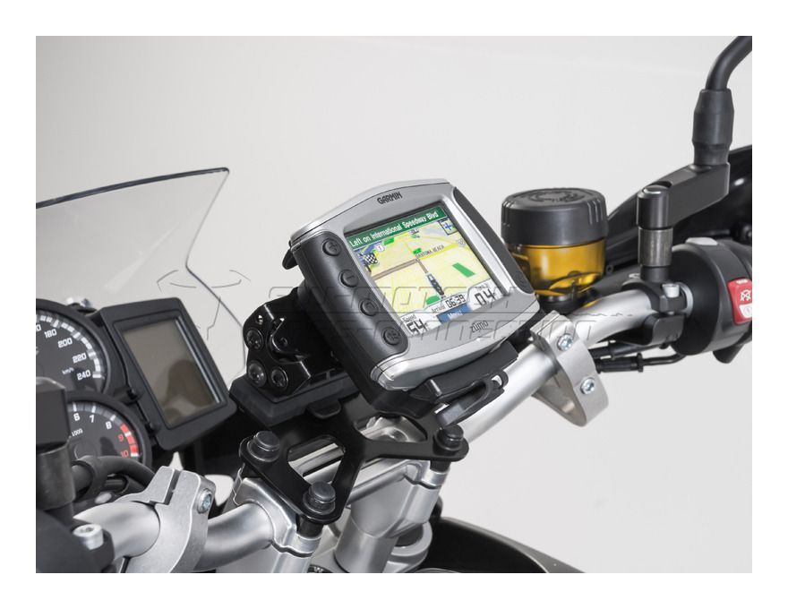 sw motech quick release gps mount bmw f650gs f700gs f800gs adventure revzilla. Black Bedroom Furniture Sets. Home Design Ideas