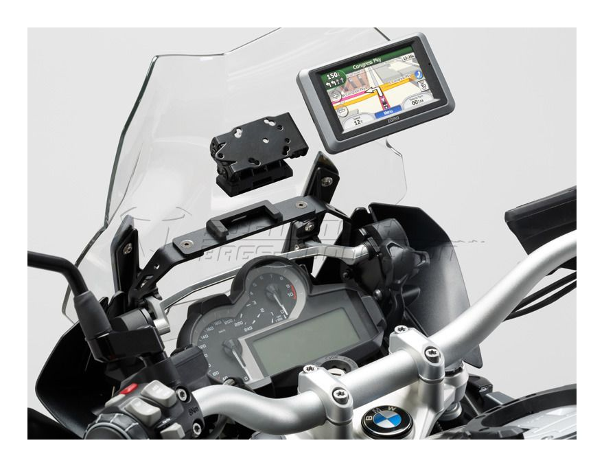 sw motech quick release gps mount bmw r1200gs adventure. Black Bedroom Furniture Sets. Home Design Ideas