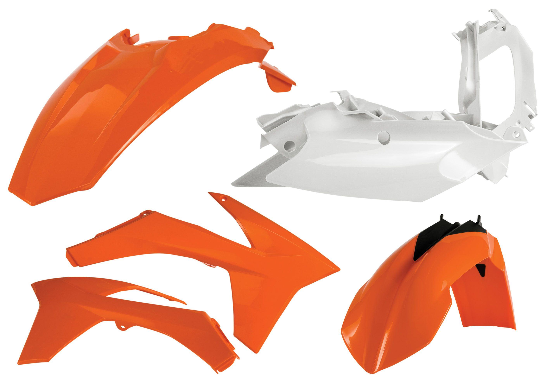 E-Start 2012-2016 Acerbis Rear Fender KTM Orange for KTM 250 XC-W