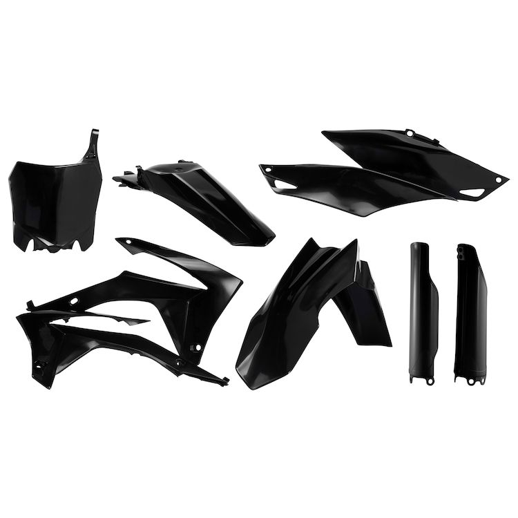 Acerbis Full Plastic Kit Honda Black CRF250R 2014-2017 CRF450R 2013-2017