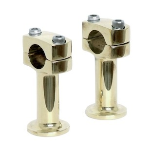 "Paughco 3"" Brass Post Risers For Harley"