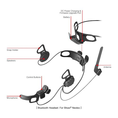 shoei neotec headset
