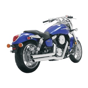 Vance & Hines Big Shots Staggered Exhaust For Kawasaki Vulcan Mean Streak VN1600B & Suzuki Marauder VZ1600 2004-2008