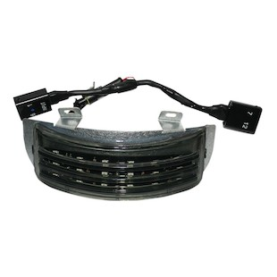Custom Dynamics Low Profile Tri-Bar LED Fender Tips For Harley Touring 2010-2013