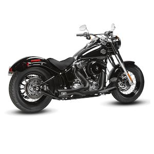 Arlen Ness by MagnaFlow F-Bomb 2-Into-1 Exhaust For Harley Softail 1996-2015 Black [Previously Installed]