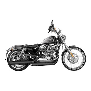 Akrapovic Slip-On Slash-Cut Mufflers For Harley Sportster 2014-2018