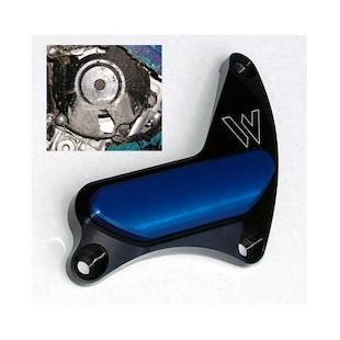 Woodcraft Crank Cover Protector Suzuki GSXR600 / GSXR750 1997-2005 / GSXR1000 2001-2008 Blue Aluminum [Previously Installed]