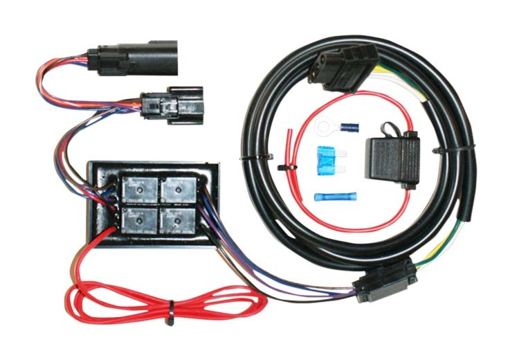 khrome_werks_plug_play_trailer_wiring_harness_kit_for_harley_touring20142015 khrome werks plug & play trailer wiring harness kit for harley motorcycle wiring harness at mifinder.co