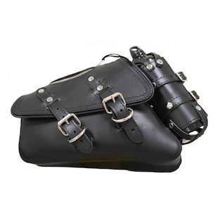 La Rosa Solo Zipper Bag With Fuel Bottle For Harley Sportster 2004-2017