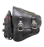 La Rosa Solo Zipper Bag With Fuel Bottle For Harley Softail & Rigid