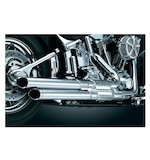 Crusher Power Cell Staggered Dual Exhaust System For Harley Softail 1986-2015