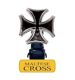 Biker Boot Straps Maltese Cross Straps