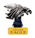 Biker Boot Straps Silver Eagle Boot Straps