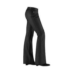 Icon Women's Hella Leather Pants Black / 5 [Blemished - Good]