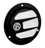 Performance Machine Scallop Derby Cover For Big Twin Harley 1970-2000 Contrast Cut [Open Box]