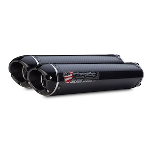Two Brothers M-2 VALE Silver Series Slip-On Exhaust Ducati 848/1098/1198 Carbon Fiber / Dual Mufflers / Slip-On [Previously Installed]