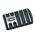 Covingtons Finned Brake Pedal Pad For Harley 1985-2018