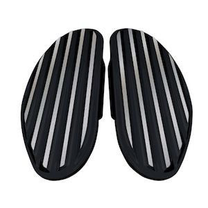 Covingtons Finned Passenger Floorboards For Harley 1986-2018