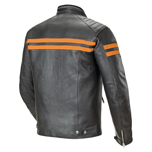 Black And Orange Motorcycle Jacket
