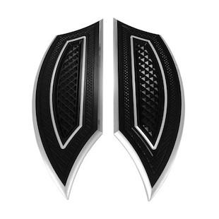 Eddie Trotta Cross Cut Driver Floorboards For Harley FL 1986-2017