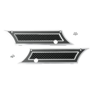 Eddie Trotta Cross Cut Saddlebag Latch Covers For Harley Touring 1993-2013