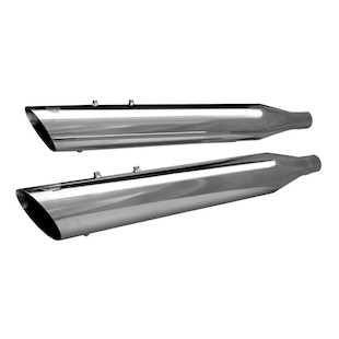 """S&S 4"""" Race Tour Slip-On Mufflers For Harley Touring 1995-2016"""