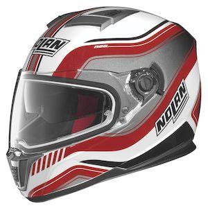 Nolan N86 Deep Helmet Metallic White/Red / XL [Demo - Good]