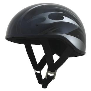 AFX FX-200 Slick Blade Helmet Gloss Black/Silver / LG [Blemished - Very Good]