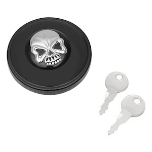 Drag Specialties Screw-In Locking Skull Gas Cap For Harley 1996-2018