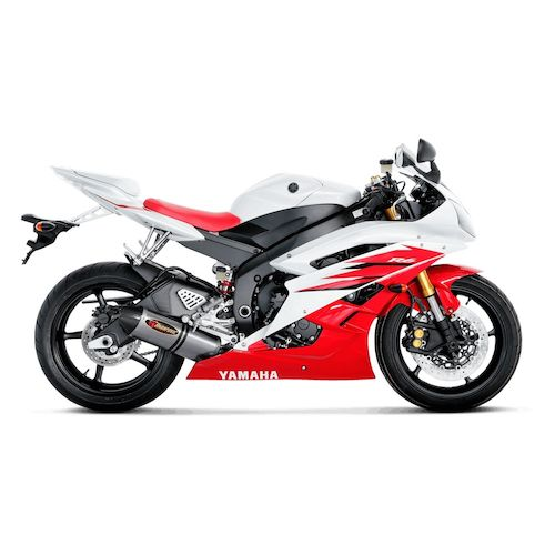 Akrapovic racing exhaust system yamaha r6 2006 2007 revzilla for Yamaha r6 carbon fiber exhaust