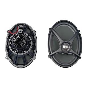 J&M Rokker Boom Saddlebag Lid Speakers For Harley Touring 2006-2013
