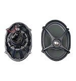 J&M Rokker Boom Saddlebag Lid Speakers For Harley Touring 2006-2013