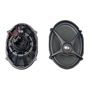 J&M Rokker Boom Saddlebag Lid Speakers For Harley Touring 2014-2016