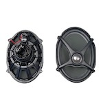 J&M Rokker Boom Saddlebag Lid Speakers For Harley Touring 2014-2016