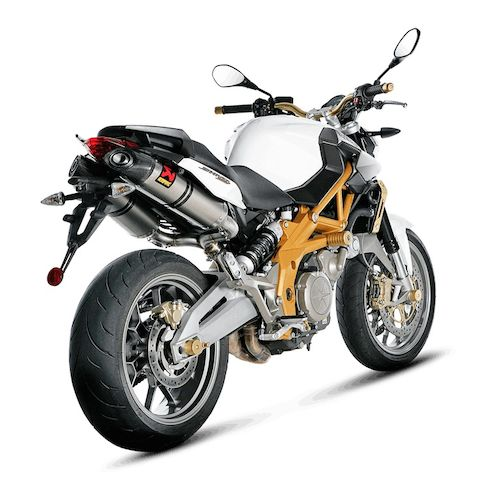 akrapovic slip on exhaust aprilia shiver 750 2008 2009 revzilla. Black Bedroom Furniture Sets. Home Design Ideas