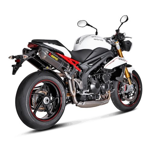 akrapovic slip on exhaust triumph speed triple r 2011 2015 revzilla. Black Bedroom Furniture Sets. Home Design Ideas
