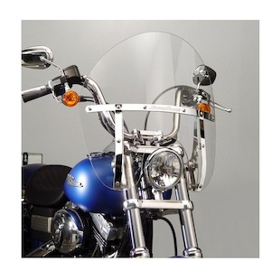 National Cycle SwitchBlade Chopped Windshield For Harley Softail / Dyna 2006-2017
