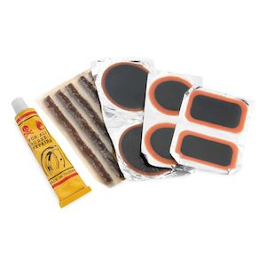 BikeMaster Tire & Tube Patch & Plug Replacement Kit