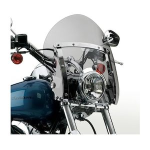 National Cycle SwitchBlade Shorty Windshield For Harley Softail / Dyna 1980-2012
