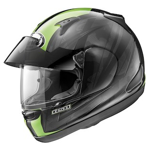 Arai Signet-Q Pro-Tour Scheme Helmet Green / MD [Blemished - Very Good]