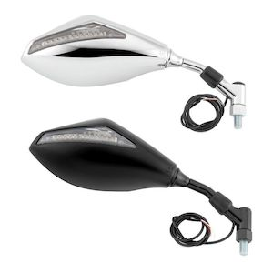 Bike Master Mirrors With LED Turn Signals